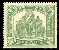 Lot 3828:1922-34 Wmk Mult Script CA SG #76 $1 pale green & green, MNG, Cat £23.