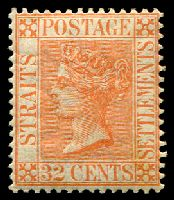Lot 3815:1883-91 Wmk Crown/CA SG #70 32c orange-vermilion, Cat £15.