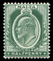 Lot 3948:1903-04 KEVII Wmk Crown/CA SG #38 ½d green, Cat £10.