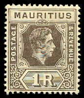 Lot 3890:1938-49 KGVI SG #260 1r grey-brown, hinge rem, Cat £45.