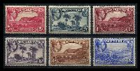 Lot 3901 [1 of 2]:1938-48 Pictorials SG #101-10 P13 complete set, ½d to 5/-, Cat £195. (10)