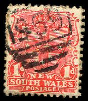 Lot 982:1959: BN on 1d Arms. [Rated 3R]  Allocated to Glenfield-RO 1/7/1886; PO 9/10/1899.
