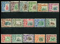 Lot 4034:1961 QEII Pictorials SG #391-406 set to $10, toned perfs on $5 & $10, Cat £160.