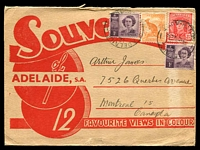 Lot 400:Australia - South Australia: souvenir folder with 12 colour views, posted from Adelaide to Canada in 1948.
