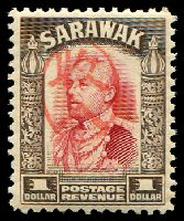 Lot 4138:1942 With Japanese Seal: $1 scarlet & sepia, red seal.