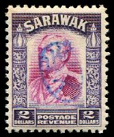 Lot 4123:1942 With Japanese Seal: $2 bright purple & violet, blue seal.