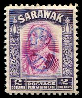 Lot 24999:1942 With Japanese Seal: $2 bright purple & violet, blue seal.