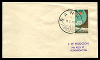 Lot 4583:1960 (Jan 11) use of 3d SANAE on cover with 'SANAE/11 I A60/[penguin]' cancel