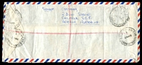 Lot 1126 [2 of 2]:1962 (May 31) used of 5d x18, 3d & 6d x2 on registered air cover from Exhibition St to England. [8/9d - 2/6d x3 & 2/- registration]