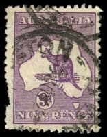 Lot 118:9d Violet Die IIB - BW #27a [3R48] Wmk inverted, defective left side, Cat $175