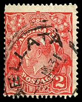 Lot 994:Bellata: 'BELLATA/5JA31/[N.S.W.]' on 2d red KGV.  Renamed from Woolabra PO 1/3/1909.