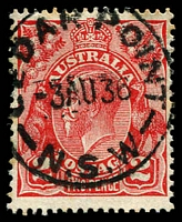 Lot 1316:Cedar Point (2): - 'CEDAR POINT/3AU36/N.S.W' on 2d red KGV.  RO 12/6/1922; PO 24/4/1926; closed 30/4/1946.