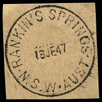 Lot 1429:Rankin's Springs: - 'RANKIN'S SPRINGS/18JE47/N.S.W-AUST' on piece.  PO 1/9/1875.