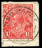 Lot 1432:Red Range: - 'RED RANGE/15FE28/N.S.W' on 1½d red KGV on piece.  PO 1/2/1881; closed 29/9/1978.