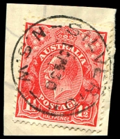 Lot 1442:Silverton: - 'SILVERTON/10FE30/N.S.W' on 1½d red KGV.  PO 1/12/1883; closed 30/3/1979.