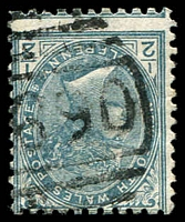 Lot 976:1690: '[1]690' on ½d grey. [Rated 3R - the first offered by us]  Allocated to Long Flat-RO 13/8/1890; PO 16/12/1892.