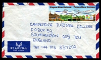 Lot 4494:1995 use of 50t on 45t Tourism x2 different on air cover from Lae to England.