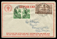 Lot 4068 [2 of 2]:Buin: 'RELIEF NO.6./19MR64/PAPUA-N.G' (error for 1954) arrival on Voyce letter card from Bogia.  PO 28/5/1949.