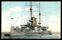Lot 549 [1 of 2]:Great Britain - Navy: coloured PPC of HMS Duncan, used 1905.