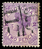 Lot 2173:1311: 'MCCC/11' on 2d violet.  Allocated to St. James-PO 16/1/1882; LPO 9/11/1993.