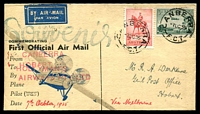 Lot 1016 [1 of 2]:1935 Holyman Canberra - Hobart AAMC #357a attractive illustrated cover with 2d Jubilee & 3d Air. We have not seen this illustrated cover before.
