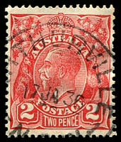 Lot 6474:Arthurville: - '[A]RTHURVILLE//17JA36/N.[S.W.]' on 2d red KGV.  PO 1/1/1875; closed 31/12/1970.
