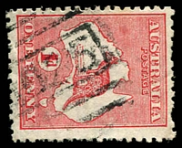 Lot 5451:1025: '1025' on 1d Roo. [Rated 2R - a similar copy sold in sale 97 for $80]  Allocated to Bylong-PO 1/5/1880; closed 15/8/1984.