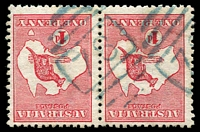 Lot 927:78: BN (4B) in blue on 1d Roo pair.  Allocated to Cassilis-PO 1/2/1836.