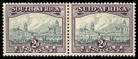 Lot 4342:1933-48 Suid-Africa Hyphenated SG #58a 2d grey & dull purple horiz pair, Cat £65