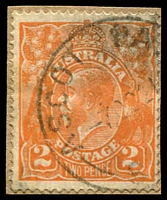 Lot 1289:Ascot Park: - 'ASCOT PA[RK]/7OC21/S.[A]' (ERD by 8 yrs) on 2orange KGV on piece.  PO 1/6/1918; renamed Park Holme North PO 15/8/1966.