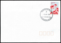 Lot 10351:111 Bourke Street: 34mm 'AUSTRALIA POST/2/9APR2010/111 BOURKE ST/MELBOURNE VIC 3000' WWW #20 on 55c on unaddressed cover.  Replaced National Philatelic Centre PO c.-/12/2009.