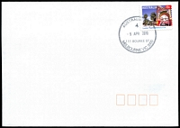 Lot 13048:111 Bourke Street: - WWW #40 34mm 'AUSTRALIA POST/4/9APR2010/111 BOURKE ST/MELBOURNE VIC 3000' on 55c on unaddressed cover.  Replaced National Philatelic Centre PO c.-/12/2009.