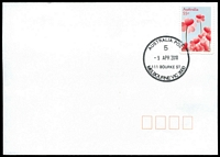 Lot 13049:111 Bourke Street: - WWW #50 34mm 'AUSTRALIA POST/5/9APR2010/111 BOURKE ST/MELBOURNE VIC 3000' on 55c on unaddressed cover.  Replaced National Philatelic Centre PO c.-/12/2009.