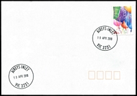Lot 2356:Airey's Inlet: - WWW #110 29mm 'AIREYS INLET/19APR2010/VIC 3321' on 45c on unaddressed cover  PO 1/4/1893; LPO 3/3/1994.