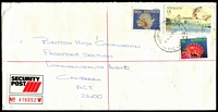 Lot 2358 [1 of 2]:Airport West (2): - WWW #20 'AIRPORT WEST/11-A-9DE87/VIC-3042' (LRD), on $5, 60c & 2c on on security post cover to Canberra.  PO 22/11/1982; LPO 26/10/1993.