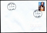 Lot 12373:Airport West (2): - 29mm 'AIRPORT WEST/D/25FEB2011/VIC 3042' WWW #110 on 55c on unaddressed cover.  PO 22/11/1982; LPO 26/10/1993.