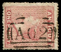 Lot 3085:1863-67 Wmk Small Star Rough Perf 14-16 SG #6 1d dull rose, Cat £55.
