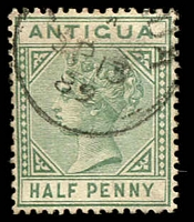 Lot 3090:1882 Wmk Crown/CA SG #21 ½d dull green, Cat £19.