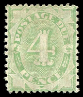 Lot 382:1902-04 Design Completed Wmk Crown/NSW BW #D26A 4d emerald P11½-12x11 Wmk inverted, Cat $125.