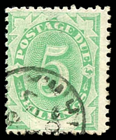 Lot 380:1902 Converted NSW Plates BW #D11 5/- emerald P11½-12, Cat $125, cds.