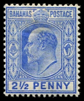 Lot 3683:1902-10 KEVII Wmk Crown/CA SG #63 2½d ultramarine.