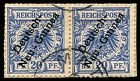 Lot 4429:1897-99 Overprint Mi #4 20pf pair on piece with part rare Matupi, Cat €30 (6)