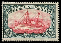 Lot 4431:1914 Yacht Wmk Lozenges Mi #23.II.B.I 5m carmine & black centre II 25x17 perf holes, Cat €40.
