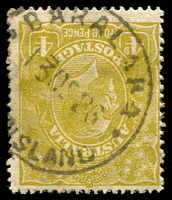 Lot 1488:Baralaba: - 26½mm 'BARALABA/13DE26/·[QUEE]NSLAND·' (ERD) on 4d olive KGV. [Rated 3R]  RO c.1919; PO c.-/4/1924.