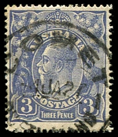 Lot 1134:Comet: - 'COMET/4JA27/QUE[ENSLA]ND' on 3d KGV.  PO 5/9/1877.