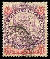 Lot 4263:1896-97 Scroll Behind Legs Die I SG #33 6d mauve & pink, Cat £26.
