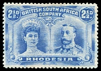 Lot 4553:1910-13 Double Heads Perf 14 SG #132 2½d dull blue, MNG, Cat £35.