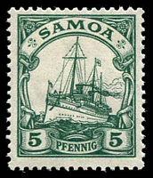 Lot 4594 [2 of 3]:1900 Yacht Wmk Lozenge Mi #20-2 short set to 10pf. (3)