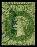 Lot 1603:1860-69 Second Roulettes SG #19 1d bright yellow-green, Cat £50.