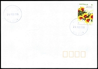 Lot 2379:Alexandra: - WWW #170 30mm 'ALEXANDRA/26FEB2016/VIC 3714' on $1 on unaddressed cover.  Renamed from Redgate PO 24/4/1867; LPO 1/12/1997.